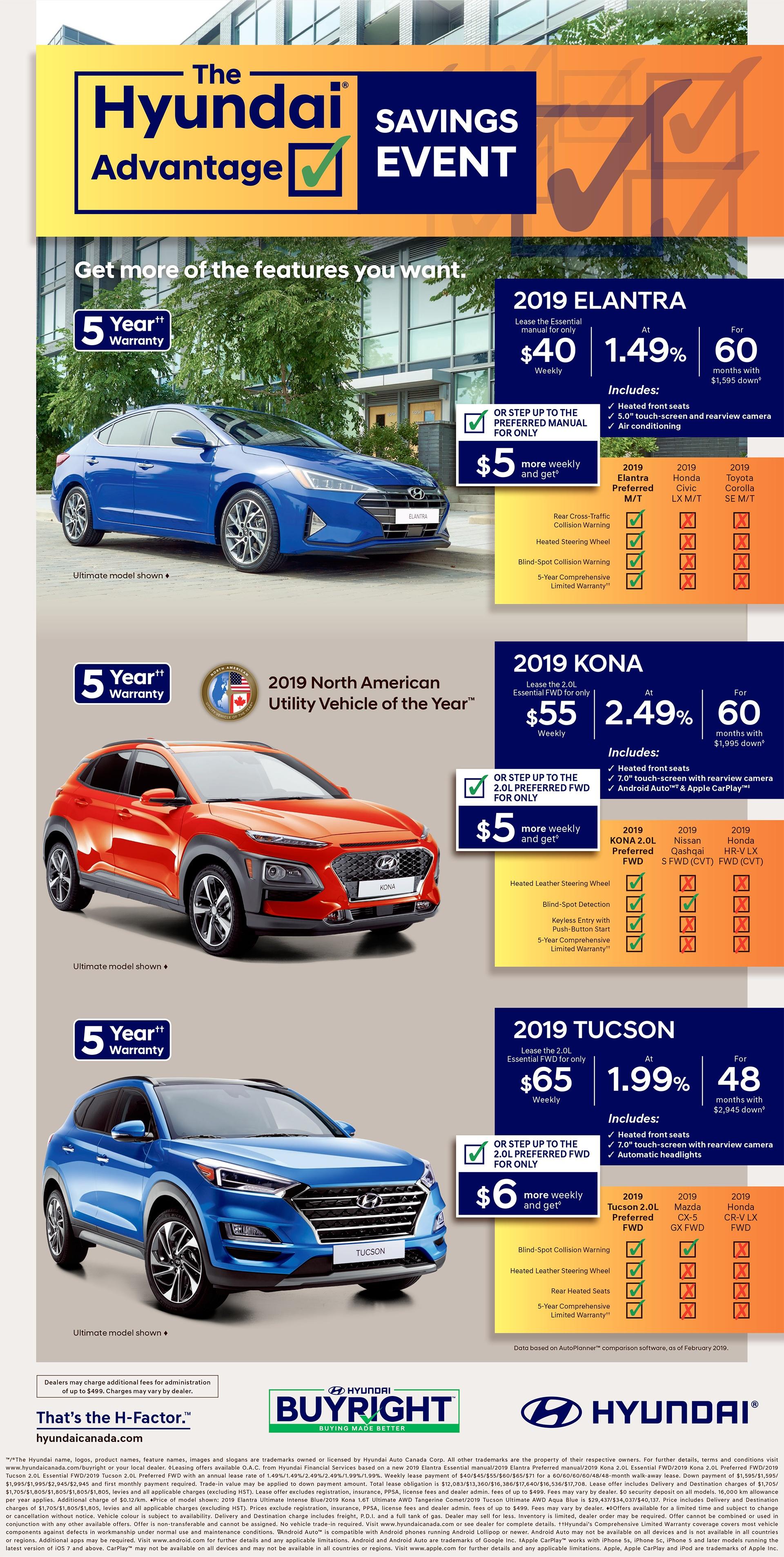 Hyundai Advantage Saving Event
