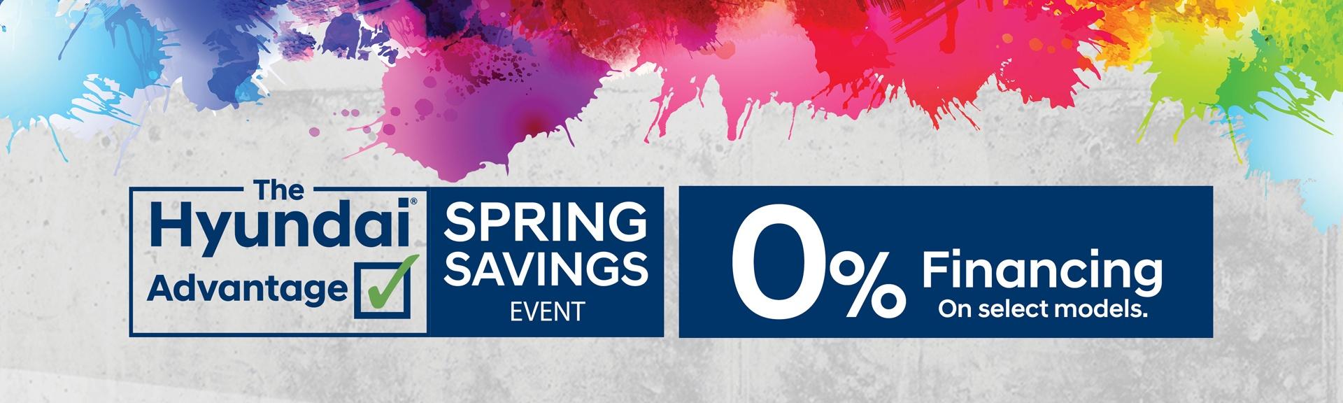 Spring Saving Event